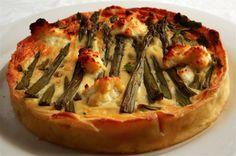 Asparagus & ricotta savoury tart