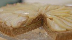 De heerlijke chocoladevlaai met peren van Sarena.