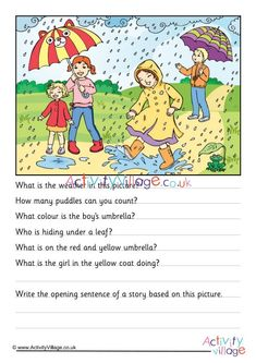 Picture Story Writing, Picture Story For Kids, Writing Pictures, Picture Writing Prompts, Essay Writing, Creative Writing For Kids, Creative Writing Worksheets, English Creative Writing, Writing Activities