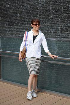 カジュアルスポーティー!?爽快なレディースビズポロ7分袖シャツ(6007-C02-1) http://ozie.jp/1HHKwq2 #ladies shirts #ladies knite-shirts #white shirts #ladies fashion