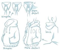 Hoodie / tie reference Visit your art shop here – Wall Paintings – Delivery . - Hoodie / tie reference Visit your art shop here – Wall Paintings – Delivery … Hoodie / tie r - Drawing Reference Poses, Drawing Poses, Design Reference, Drawing Tips, Drawing Sketches, Drawing Tutorials, Art Drawings, Drawing Ideas, Manga Drawing