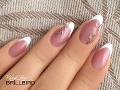 Gently And Elegantly - Newest Ideas of French Manicure! - Gently And Elegantly - Newest Ideas of French Manicure! French Nail Art, French Nail Designs, Acrylic Nail Designs, French Tip Nails, Nail Art Designs, Classy Nails, Stylish Nails, Cute Nails, Pretty Nails