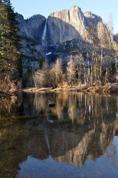 Yosemite Falls Reflection by *salohcin19 on deviantART
