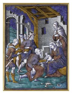 Plaque: Adoration des Mages par PIERRE REYMOND - Musée national de la Renaissance (Ecouen)