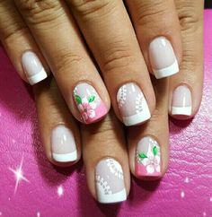 Cute Nail Art, Cute Nails, Pretty Nails, French Tip Nails, Creative Nails, Simple Designs, Nail Art Designs, Beauty, Sink Tops