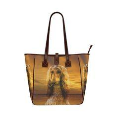 Dog Afghan Hound Classic Tote Bag (Model 1644)