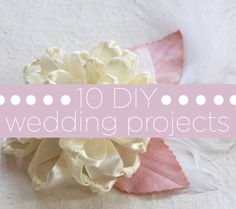10 must-try DIY wedding projects