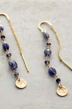 Sodalite & Threaded Coin Earrings - anthropologie.com