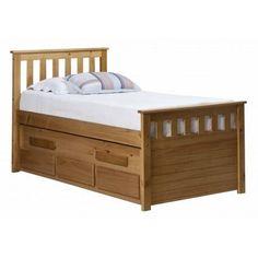Captains Bergamo Guest Bed Frame Solid Wood