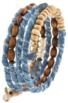 Diy Denim Bracelets, Fabric Bracelets, Wrap Bracelets, Diy Denim Earrings, Diy Bracelet, Jewelry Shop, Handmade Jewelry, Jewelry Design, Skull Jewelry