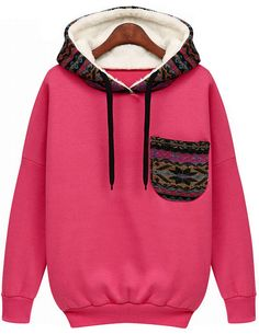 Shop Red Hooded Long Sleeve Pocket Sweatshirt online. Sheinside offers Red Hooded Long Sleeve Pocket Sweatshirt & more to fit your fashionable needs. Free Shipping Worldwide!