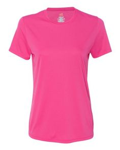 faf146a3 Hanes Women's Cool DRI® T-Shirt: oz., polyester UPF ratingDouble-needle  stitching on neck, sleeves and bottom hemPerfect for printing or  sublimationNarrower ...