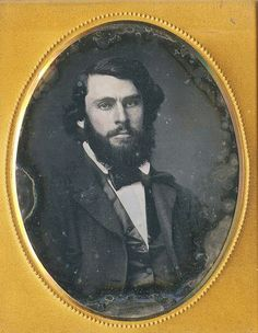 Dark and attractive! There were five daguerreotype portraits of young gentlemen, and this is the one I saved. Hmmmm!