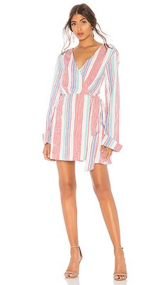 L'Academie The Lanus Mini Dress in Red Monaco Stripe | #romper #stylish #summerstyle *FTC Disclosure: This is an affiliate link, which means I may make a commission if you make a purchase through this link.