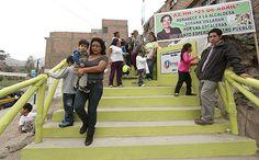 Pasajes-escaleras en el AAHH 21 de abril, Independencia