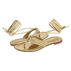 KORS Michael Kors - Gem (Platino Nappa) - Footwear -  KORS Michael Kors  Gem (Platino Nappa)  Footwear 6pm.com is proud to offer the KORS Michael Kors  Gem (Platino Nappa)  Footwear: Sassy ankle strap thong sandals to look lovely with dresses or skirts this summer. ; Woven leather thong with metal ring. ; Leather ankle...