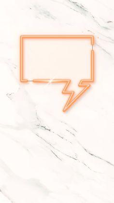 Orange speech balloon wallpaper vector | free image by rawpixel.com / katie Mobile Wallpaper, Iphone Wallpaper, Speech Balloon, Memphis Pattern, Neon Design, Free Frames, Neon Light Signs, Oval Frame, Blue Tones