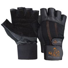 GF-100108 Fitness Gloves, Goat Leather with Suede Leather and Spandex Fabric, Long Elastic Strap with Velcro Fastener.