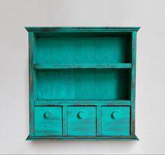 3 Çekmeceli Vintage Dolap – Yeşil