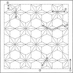Sashiko Pattern 1010 - International Fabric Collection of quilt and fashion fabric.