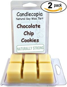 Chocolate Chip Cookies 6.4 oz Scented Wax Melts - Smells like fresh baked Chocolate Chip Cookies! - 2-Pack of naturally strong scented soy wax cubes throw 50+ hours of fragrance when melted in Scentsy®, Yankee Candle® or standard electric tart warmer Candlecopia http://www.amazon.com/dp/B00K4P28Z6/ref=cm_sw_r_pi_dp_WcVLtb081N9W4R76