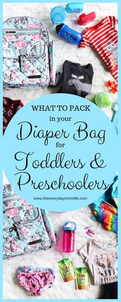 Diaper Bag Essentials For Toddlers & Preschoolers. Moms still need to carry a diaper bag when kids arent babies anymore. Check out this must-have diaper bag list. - Diaper Bags - Ideas of Diaper Bags Toddler Diaper Bag, Boy Diaper Bags, Diaper Bag List, Diaper Bag Backpack, Diaper Bag Essentials, Travel Bag Essentials, Newborn Essentials, Parenting Toddlers, Good Parenting
