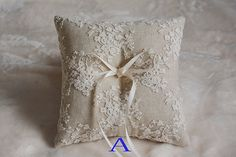rustic ring bearer pillow linen ring bearer pillow by janebridal