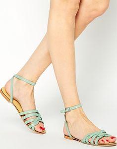 e4d35bbad49be Enlarge ASOS FULLER Woven Two Part Sandals Petits Souliers, Chaussure,  Sandales Couleur Menthe,