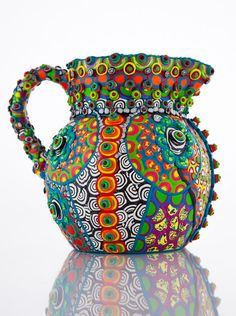 Upcycled Clay Mosaic Pitcher Multi Colored Multi von CrazieHappy, $145.00