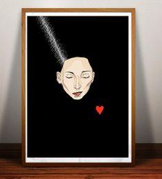 Bride of Frankenstein Minimalist Illustration by EstefAzevedo, $30.00