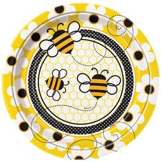 "9"" Bumble Bee Party Plates, 8ct"