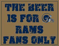 St. Louis Rams Fan Sign - Man Cave Sign