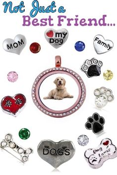 Is this dog locket not the cutest?  Show off your pets with an Our Hearts Desire locket.  Add your own picture into our locket with any charms that you'd like.
