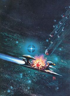 Art by Frank Kelly Freas: 1977 was the year he did a record cover for Queen.