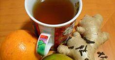 Chá de Gengibre e Laranja para Tosse A receitinha de hoje não é só gostosa... é uma baita ajuda pra quem tá com aquela tosse de matar!!...