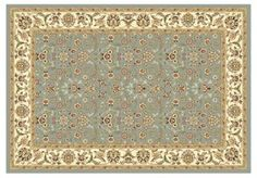 Aberdeen Rug, Light Blue/Ivory