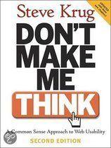Don't Make Me Think: A Common Sense Approach to Web Usability/ Wil je dit boek in één uur kunnen uitlezen in volle concentratie met meer tekstbegrip? Ik kan je helpen, surf naar http://peterplusquin.be/word-expert-in-drie-dagen-via-de-smartreading-snelleesmethode/ #smartreading #snellezen