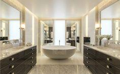 Beautiful spacious master bathroom