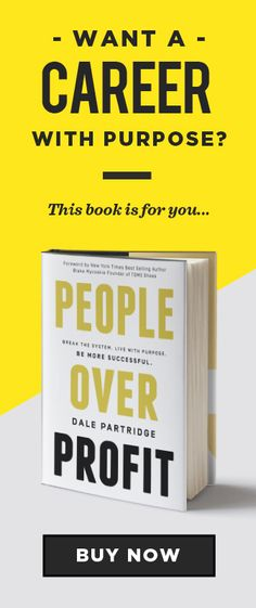 Okay. Dale Partridge's new book is by far the most motivating read I've done in a long time. Everyone who's looking for more purpose in their work should read this.