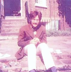 John in Paul's backyard 1967
