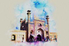 DesertRose///Badshahi Mosque Gate Painting