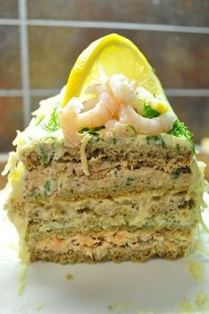Cake with carrot and ham - Clean Eating Snacks Savory Pastry, Savoury Baking, Savoury Cake, A Food, Food And Drink, Finnish Recipes, Sandwich Cake, Sandwiches, Salty Cake