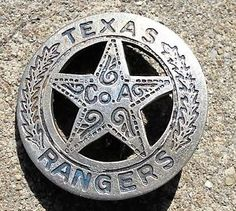 old west deputies | Texas Ranger Old West Police Badge Marshal Sheriff Deputy Company A ...