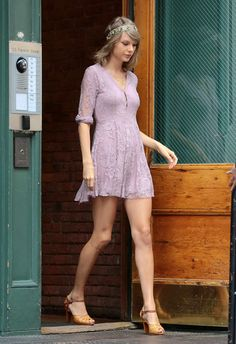Taylor Swift. A little too skinny for my taste but she's super cute and killer legs