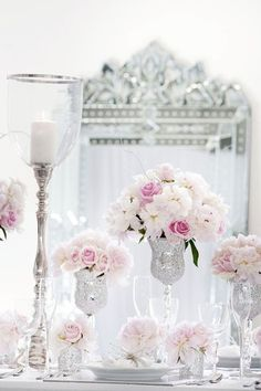crystal goblet and roses candles