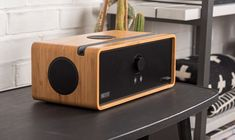 We only ever use solid, real bamboo wood for our music speakers. There's no place for imitation or veneer here. Wireless Sound System, Waterproof Bluetooth Speaker, Bluetooth Speakers, Bluetooth Gadgets, Music Speakers, Home Speakers, Wooden Speakers, Speaker Plans, Diy Laptop