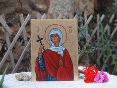 St. Anastasia saint and great martyr byzantine sacred by angelicon