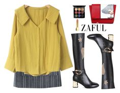 """""""Zaful~vintage~"""" by gabygirafe ❤ liked on Polyvore featuring MAC Cosmetics, vintage, cute and newchic"""