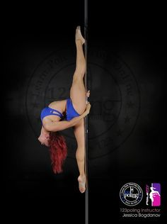 Pole Picture of the Day: @Jessica Bogdanov from 123Poling.com. Learn this move and many others at www.123poling.com. #PoleOn #BadKittyPride #PoleWear #BKPPOD #TheOriginalPoleWear  Jessica is wearing PoleFit® in Royal Blue: http://www.badkitty.com/polefit-apparel.html/?color=151