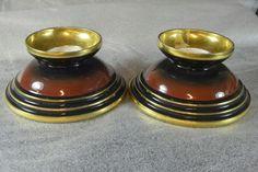 Machine Age, Candle Holders, Art Deco, Porcelain, Candles, Porcelain Ceramics, Porta Velas, Candy, Candle Sticks